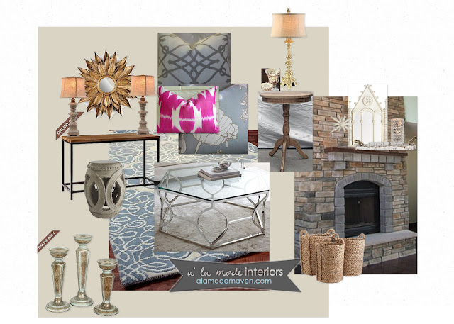 alamode: E- Design Of The Week- Client Living Room- Adding ...