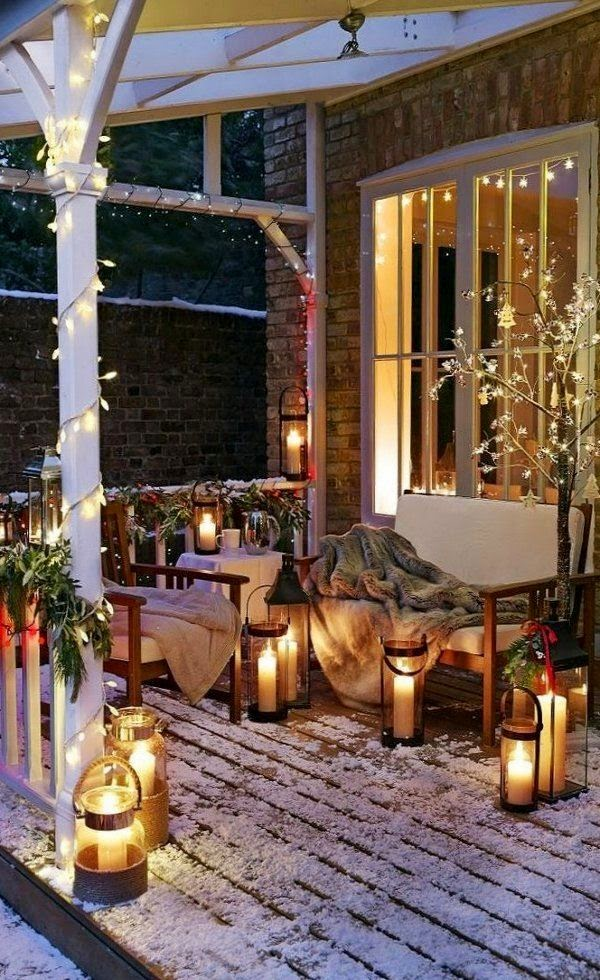 Ilumina tu terraza en invierno