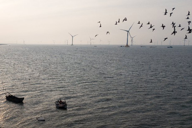 Penelitian China Begins Constructing Offshore Wind Farm With Biggest Installed Capacity
