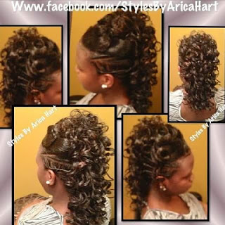 Hair style image, rods, curls,twist, mohawk