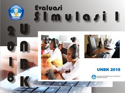 Rangkaian Ujian Nasional Berbasis Komputer  Hasil Evaluasi Simulasi 1 UNBK 2018