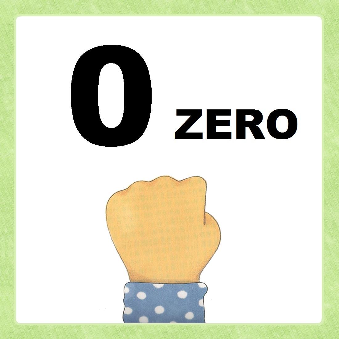 imagens do numeral zero colorido