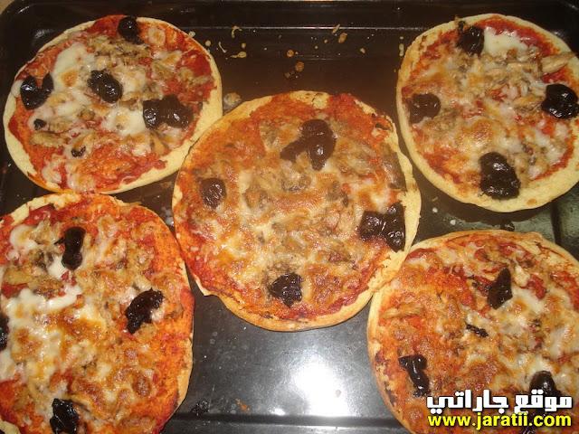 بيتزا مغربية سهلة جدا واقتصادية باستعمال البطبوط