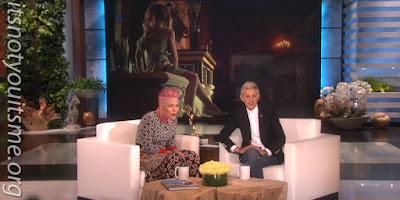 Pink is a winner on Ellen