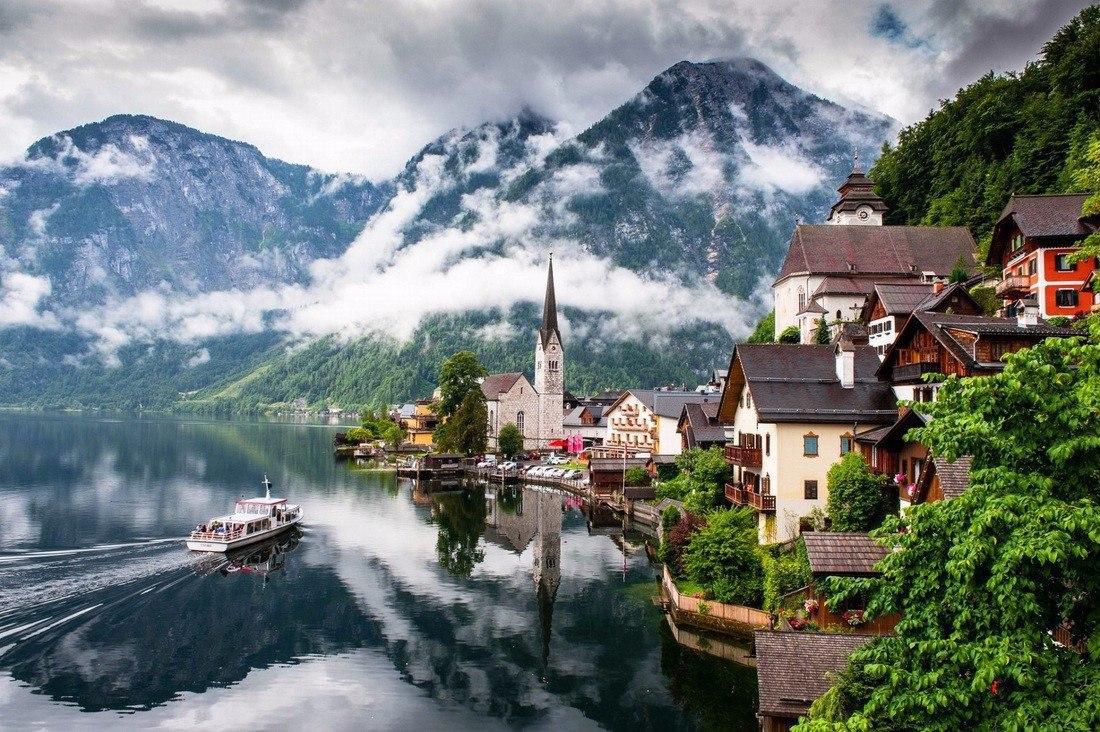 Обои австрия, гальштат, городок. Города foto 17