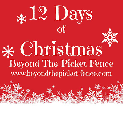 Beyond the picket fence 12 days of christmas day 1 for 12 days of christmas door decoration