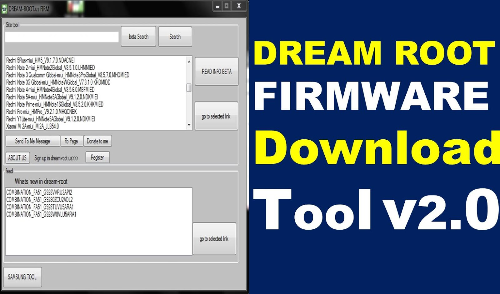 DREAM ROOT FIRMWARE Download Tool v2 0 Without Password Download By
