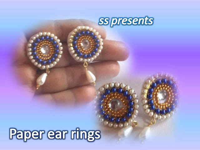 Here is paper jewellery,stone jewellery,pearls jewellery,silkthread jewellery,pearls jewellery,quilling jewellery,terracota jewellery,How to make paper ear rings at home