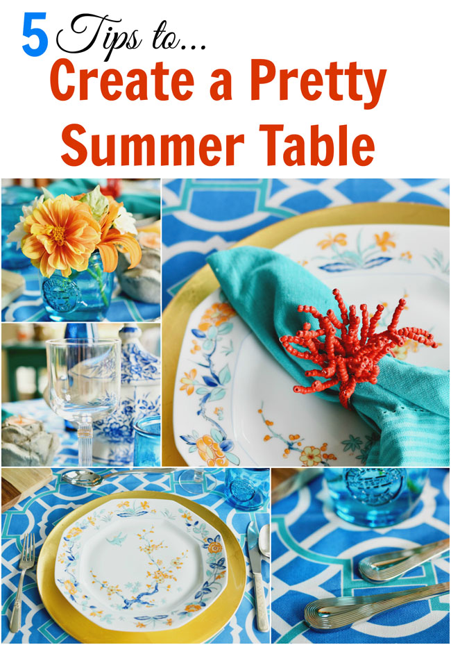 5 tips to create a pretty mix and match summer table #decor #table #home