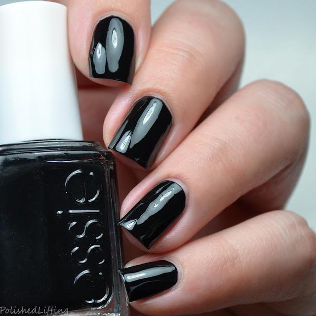 black creme nail polish