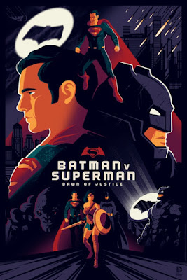 Batman v Superman: Dawn of Justice Variant Screen Print by Tom Whalen x Dark Hall Mansion
