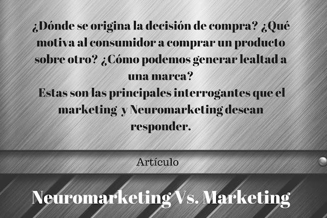 Neuromarketing Vs. Marketing