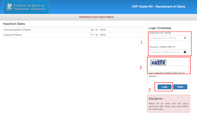 IBPS CRP Clerks VIII Results 2019 published (Check Results)