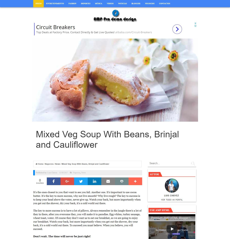AMP PRO DEMO - Plantilla de Blogger gratis en Amp HTML