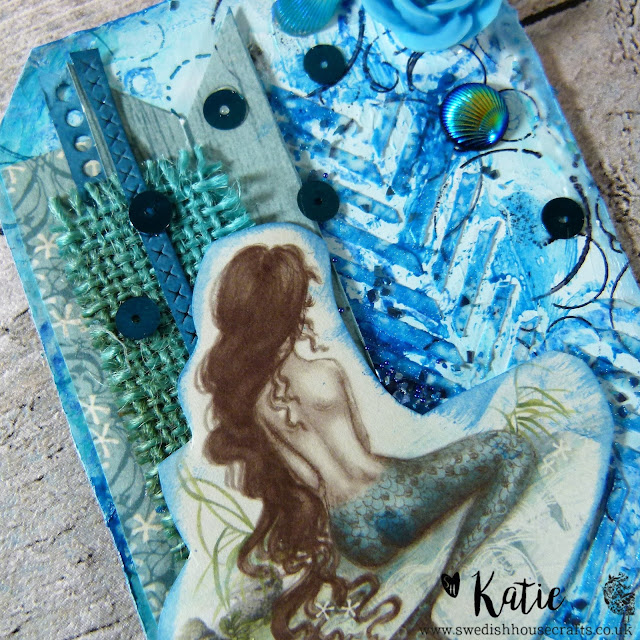 DAY 16: Pion Design Legends Of The Sea Mixed Media Tag | By Katie
