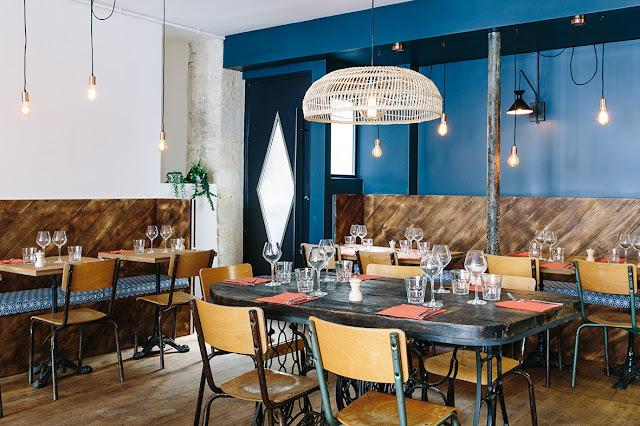 restaurant, paris, pigalle, homard, les pinces, deco, vintage