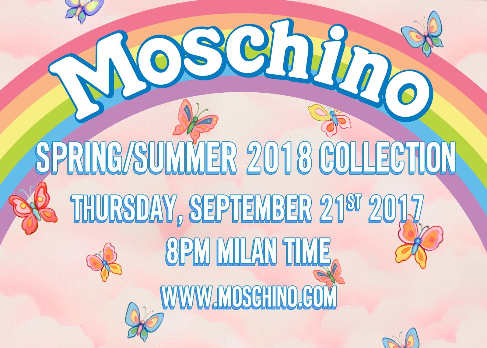 Watch Moschino's SS18 Show LIVE from Milan Fashion Week HERE TONIGHT!