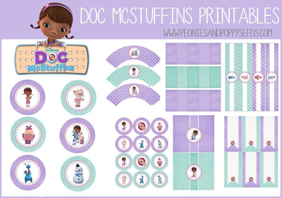 Doc McStuffins Free Printables