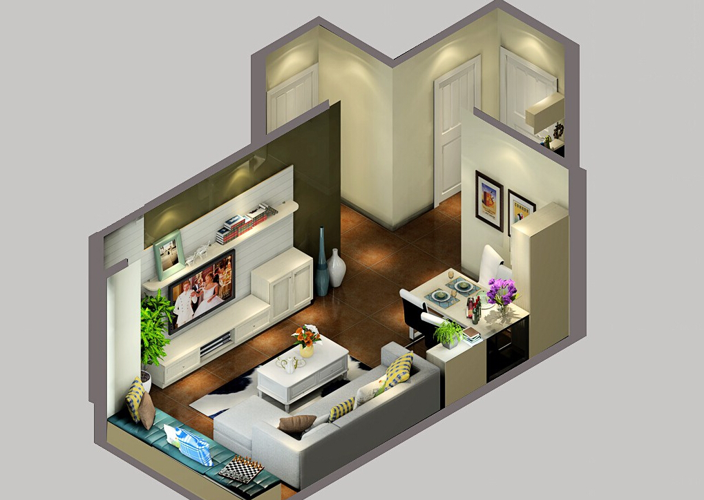 British-house-living-dining-room-interior-layout 35 Sky View 4D American House Plan Styles Interior