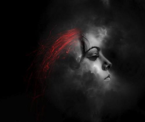 Membuat Manusia Rambut Api Melayang di Photoshop