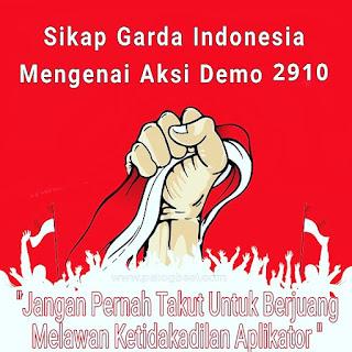 SIKAP GARDA INDONESIA TERHADAP AKSI 2910