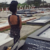 5 Years! Denrele Visits Goldie's Graveside WEARING Her DRESS [Photos]