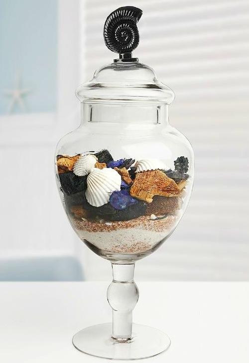 Sea Shell Apothecary Jar