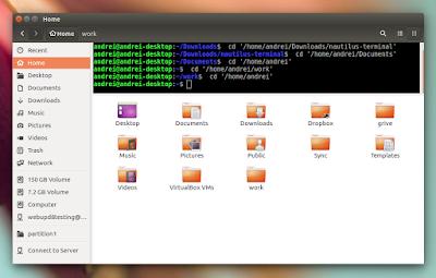Nautilus Terminal Ubuntu 16.04 Xenial Xerus