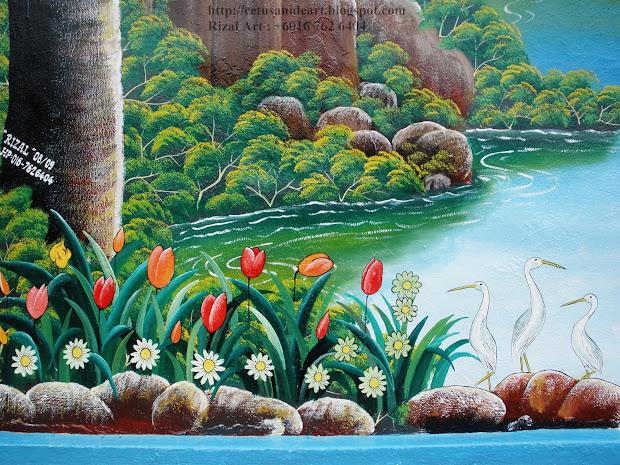 Mural Art Cetusan Idea Sample Background Arts