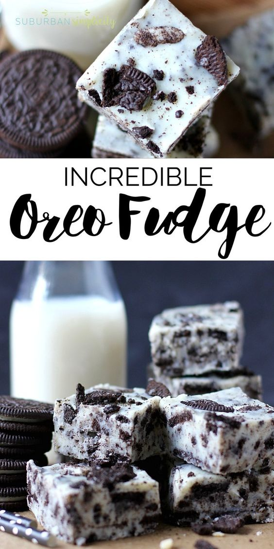 AMAZING OREO FUDGE YOU HAVE TO TRY