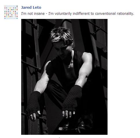 Jared Leto's insanity