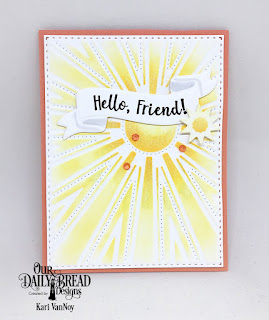 Stamp/Die Duos: Wavy Words  Custom Dies: Sunburst Background