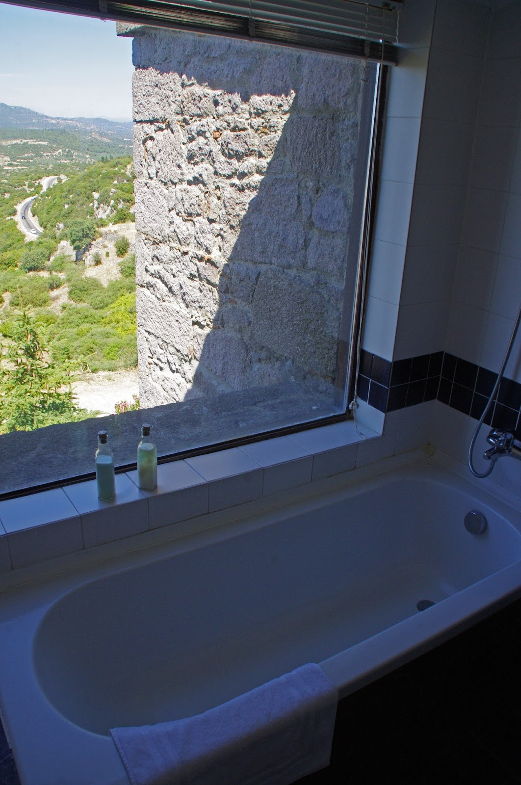 Bath with a view at Assos Alarga Boutique Hotel