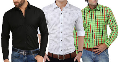 London Looks New Check Design Shirts Combo (Pack Of 3