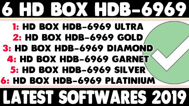 HD BOX HDB-6969 ULTRA, GOLD, DAIMOND, GARNET, SILVER AND PLATINIUM RECEIVER POWER VU KEY NEW SOFTWARE