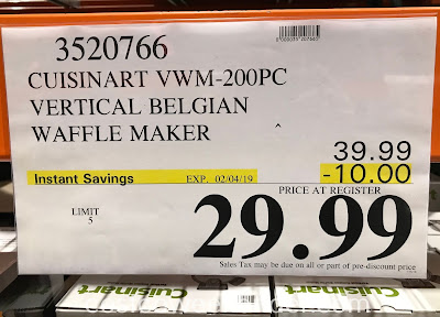 Deal for the Cuisinart Vertical Belgian Waffle Maker (model VWM-200PC1) at Costco