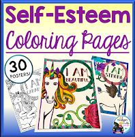 Self-Esteem Unicorn Coloring Pages