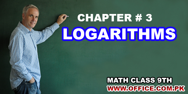 Chapter 3 Logarithms Math 9th FBISE in PDF