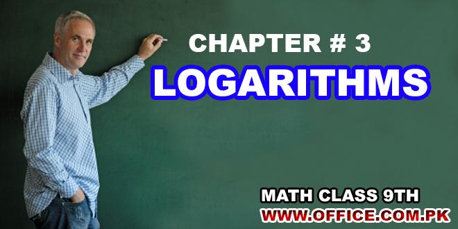 Ch3-Logarithms 9th Class Math PDF Notes