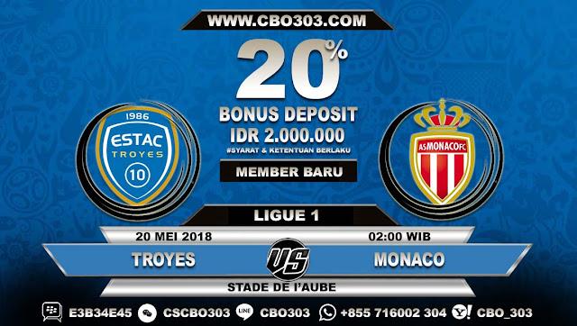 Prediksi Bola Troyes VS Monaco 20 Mei 2018
