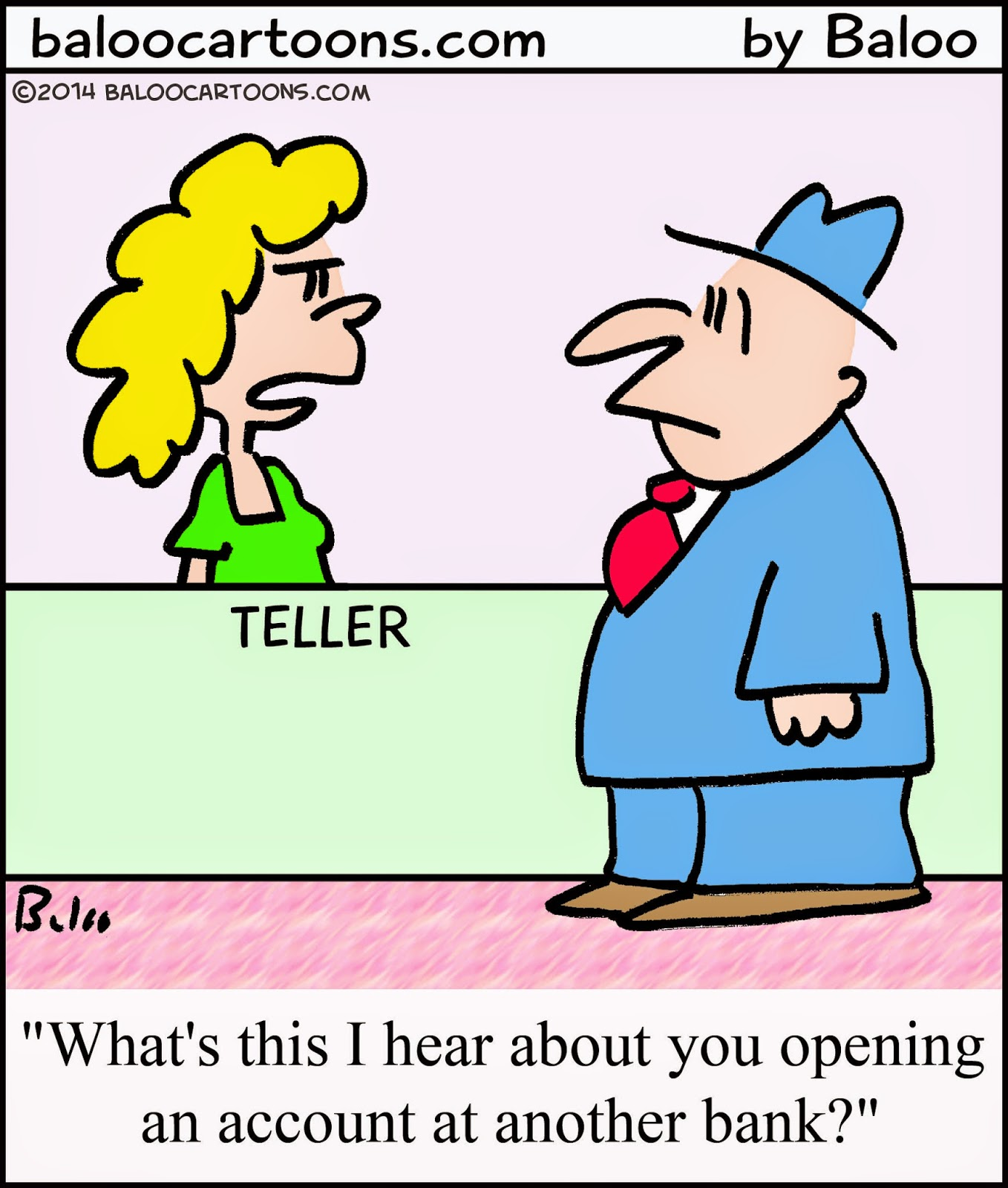 Baloo's Non-political Cartoon Blog: Bank Cartoon