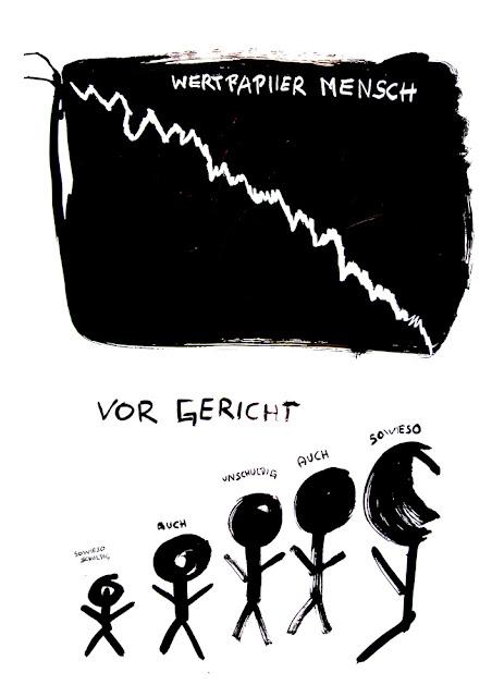 Kris Scheisse! 2008, Wertpapier Mensch, 100 x 70cm