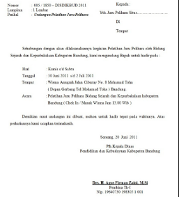 Surat Undangan Resmi Kepala Desa Osis
