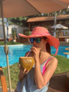 Indian Model Raai Laxmi Stills In Pink Bikini (4)