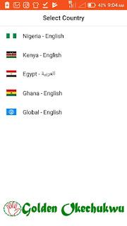 Choose Scooper News App Country