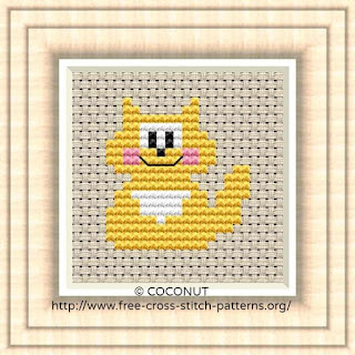 Raccoon, Free and easy printable cross stitch pattern