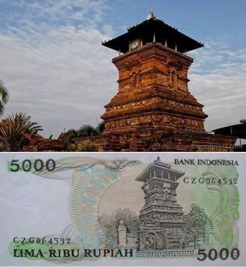 uang 5ribu menara kudus