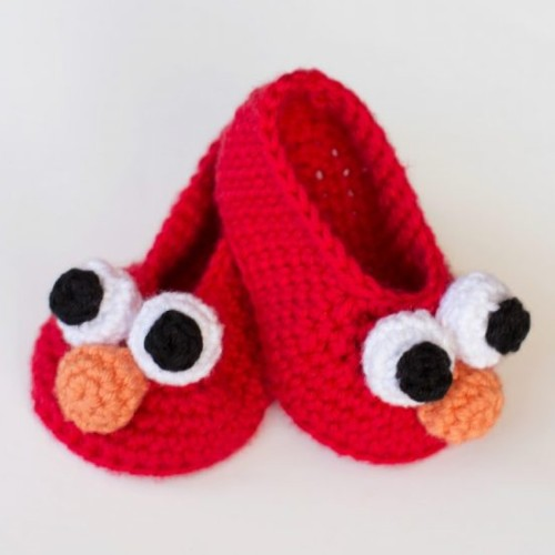 Elmo Inspired Baby Booties - Free Pattern