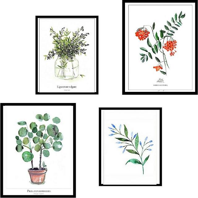 grafiki roślinne