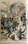 Le Petit Journal: Mazedonier verteidigen sich mit Bomben gegen türkische Soldaten 1903
